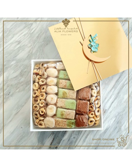 Ramadan Sweets/Chocolates Arranged In A Special Plexi Box