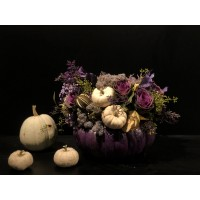 Autumn Pumpkin Arrangement -Purple